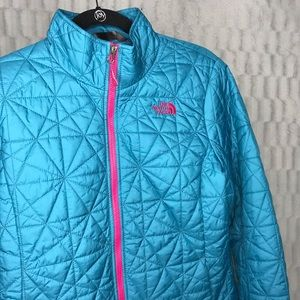 The North Face Tamburello Teal Quilted Zip Jacket